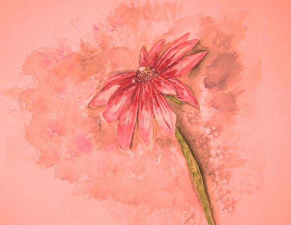 Watercolor Poster featuring the painting Melancholoy by Crystal Hubbard