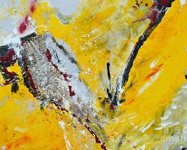 Abstract Art Poster featuring the painting Melody Of Passion by Ismeta Gruenwald
