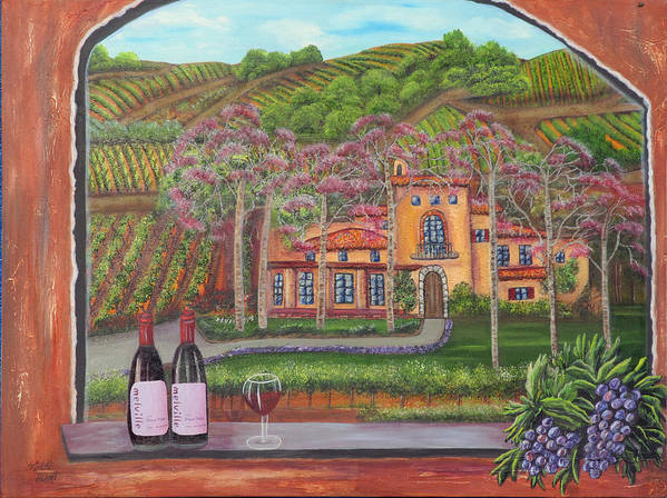 Winery Poster featuring the painting Melville Magic II by Mikki Alhart