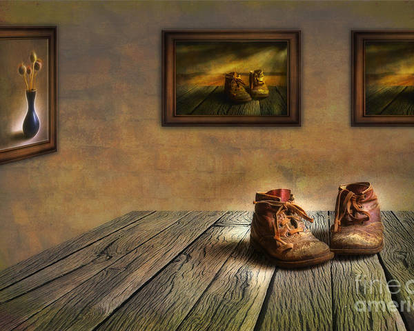 Art Poster featuring the photograph Mementos Exhibition by Veikko Suikkanen
