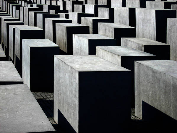 Monument Poster featuring the photograph Memorial To The Murdered Jews Of Europe by RicardMN Photography