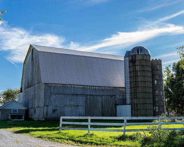 Barn Poster featuring the photograph Mercer County Barn by Anthony Thomas