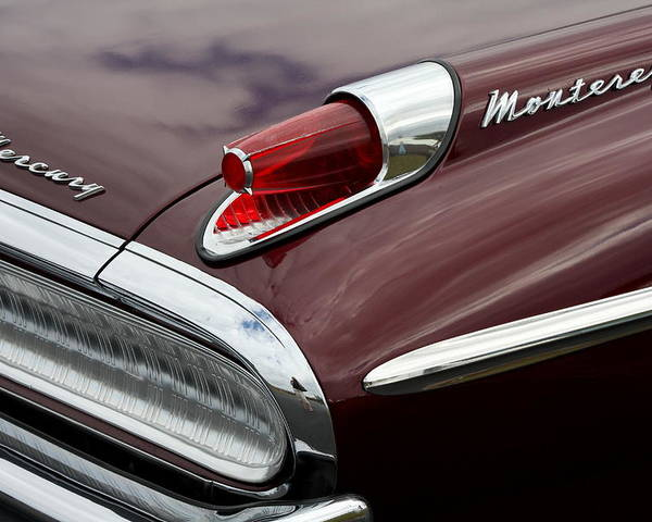 Vintage Car Poster featuring the photograph Mercury Monterey Taillight by Christiane Schulze Art And Photography