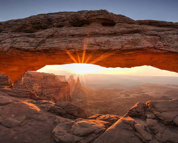 Mesa Arch Poster featuring the photograph Mesa Arch Morning by Andrew Soundarajan