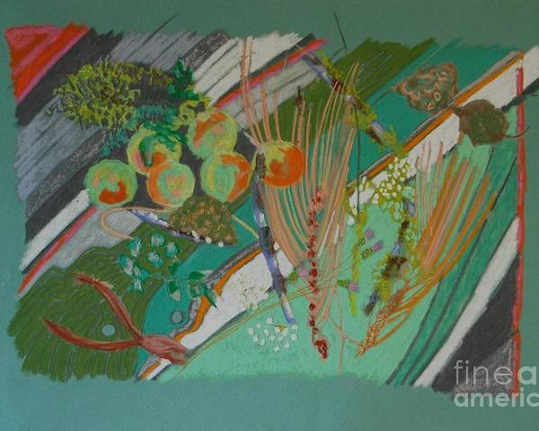 Still Life Poster featuring the painting Methow Valley Porch by Judith Van Praag