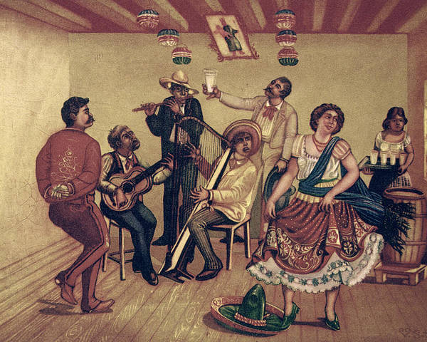 20th Century Poster featuring the photograph Mexico: Hat Dance by Granger