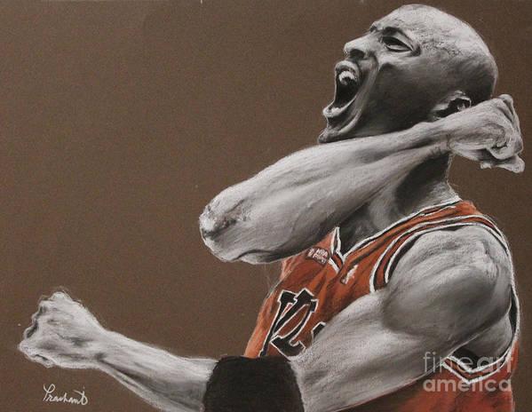 Michael Jordan Poster featuring the painting Michael Jordan - Chicago Bulls by Prashant Shah