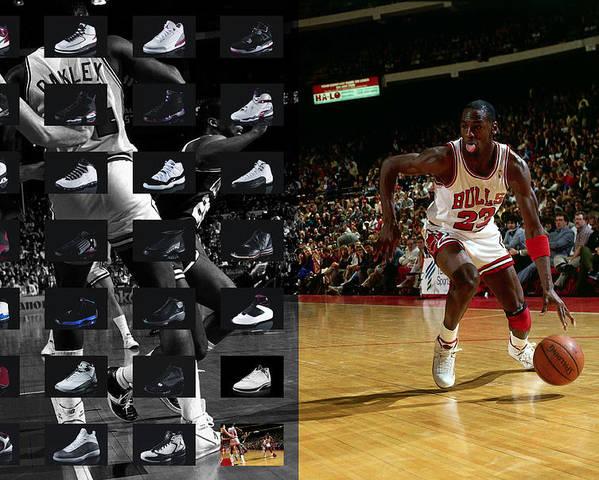 big sale ff126 61595 Michael Jordan Shoes Poster