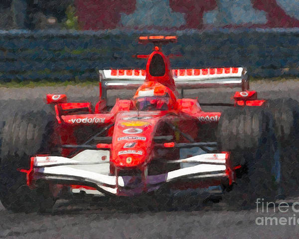Clarence Holmes Poster featuring the photograph Michael Schumacher Canadian Grand Prix I by Clarence Holmes