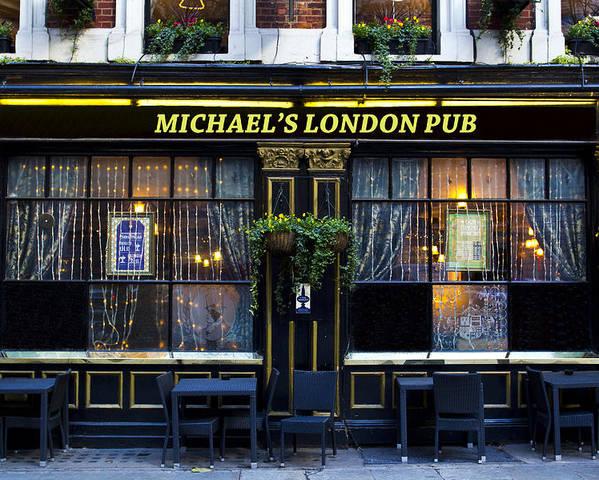 Michael Poster featuring the photograph Michael's London Pub by David Pyatt