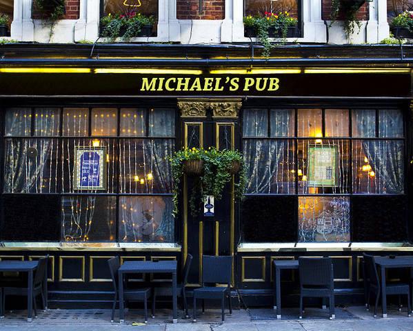 Michael Poster featuring the photograph Michaels''s Pub by David Pyatt