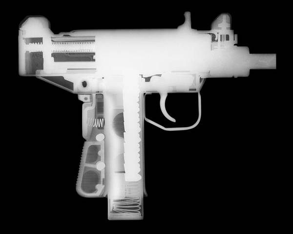 Gun Collectible Poster featuring the photograph Micro Uzi Reverse by Ray Gunz