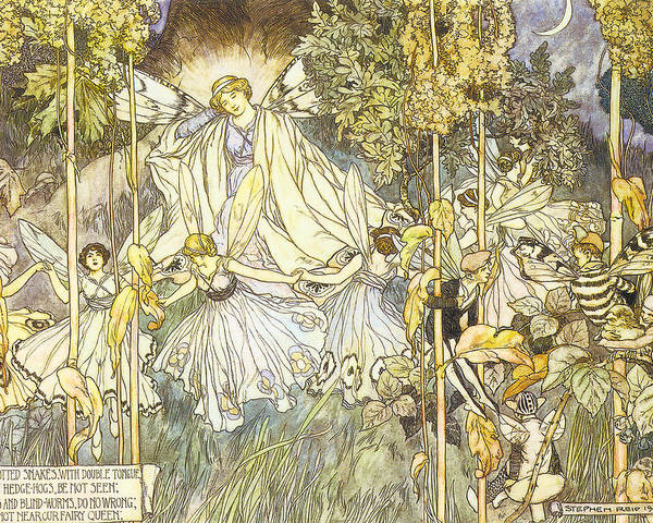 Francis Danby Poster featuring the digital art Midsummer's Night Dream by Stephene Reid