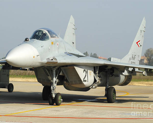 7547359a8bb Mig-29 Fulcrum From The Hungarian Air Poster