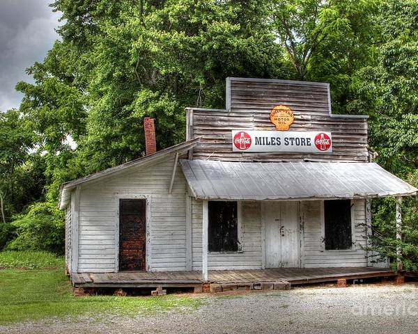 Country Store Poster featuring the photograph Miles Country Store by Benanne Stiens