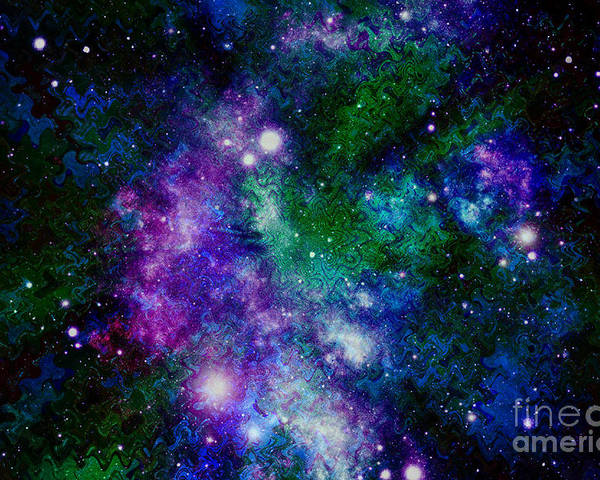 Milky Way Poster featuring the photograph Milky Way Abstract by Carol Groenen