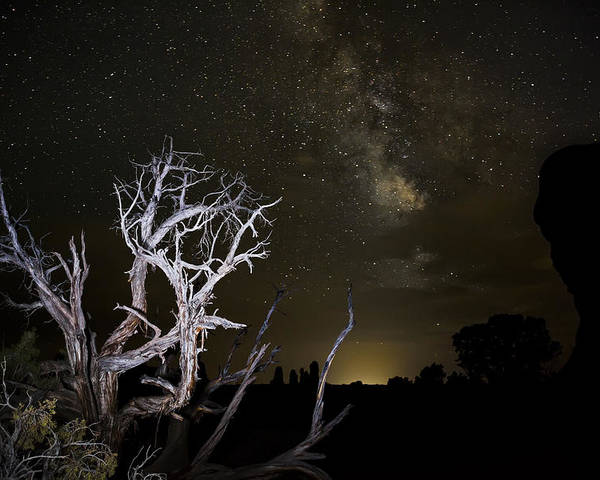 3scape Photos Poster featuring the photograph Milky Way Over Arches National Park by Adam Romanowicz