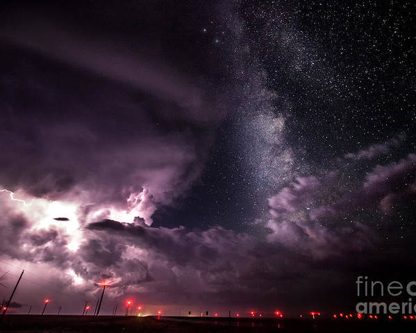 Milky Way Poster featuring the photograph Milky Way Storm by Marko Korosec