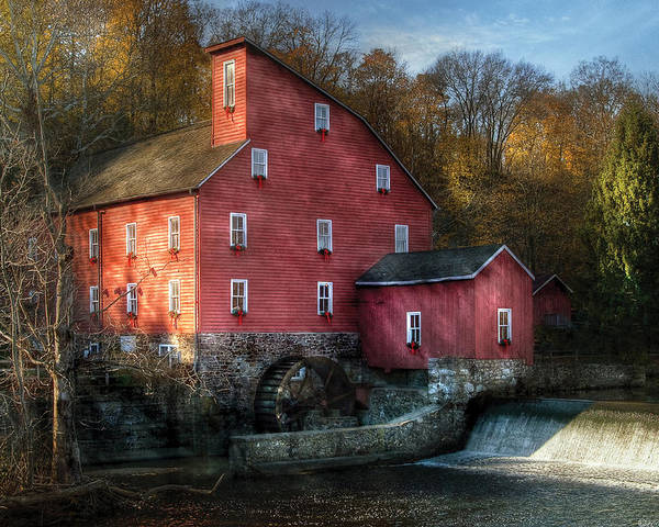Savad Poster featuring the photograph Mill - Clinton Nj - The Old Mill by Mike Savad