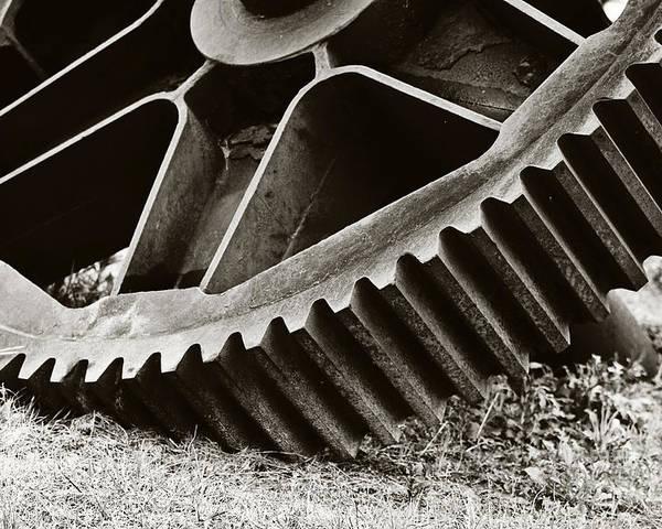 Gear Poster featuring the photograph Mill Gear by Scott Pellegrin