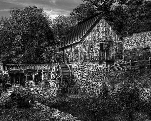 Savad Poster featuring the photograph Mill - The Mill by Mike Savad