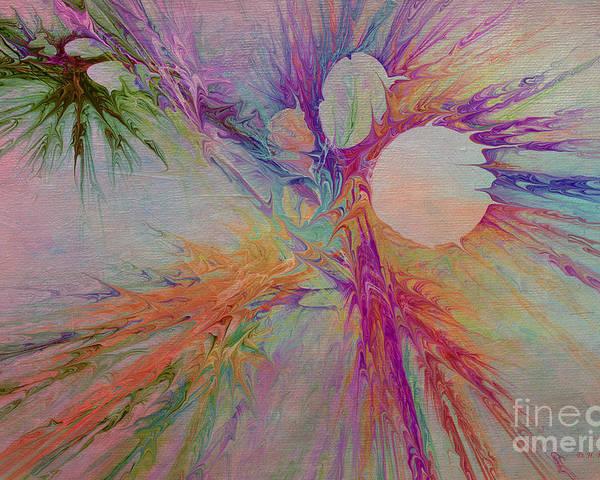 Abstract Poster featuring the digital art Mind Energy Aura by Deborah Benoit