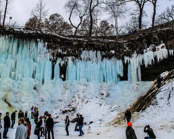 Poster featuring the photograph Minnehaha Falls 2 by Nick Peters