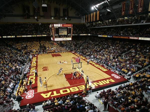 Williams Arena Poster featuring the photograph Minnesota Golden Gophers Williams Arena by Replay Photos