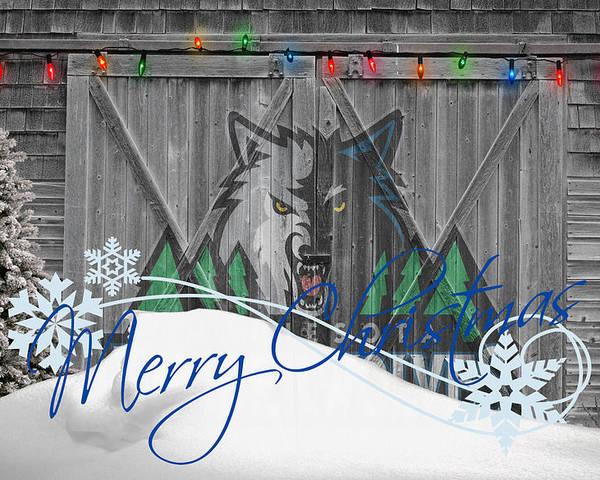 Timberwolves Poster featuring the photograph Minnesota Timberwolves by Joe Hamilton