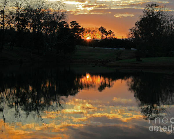 Sunset Prints Poster featuring the photograph Mirror Image by Jinx Farmer