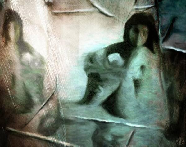 Womqn Poster featuring the digital art Mirror Room by Gun Legler