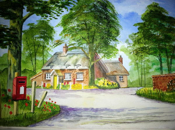 Landscape Poster featuring the painting Miss Marples Cottage St Mary-meade by Ian Scott-Taylor