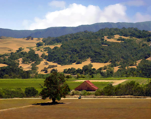 Solvang Poster featuring the photograph Mission Meadows Solvang California by Kurt Van Wagner