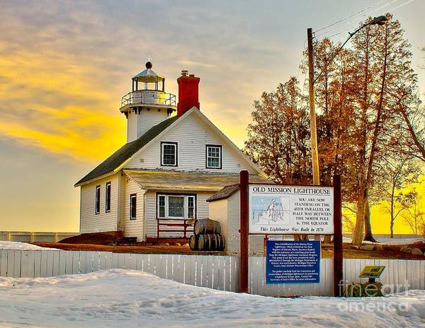 Bay Poster featuring the photograph Mission Point Michigan by Nick Zelinsky