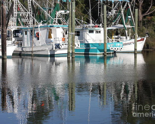 Boats Poster featuring the photograph Mississippi Boats by Carol Groenen