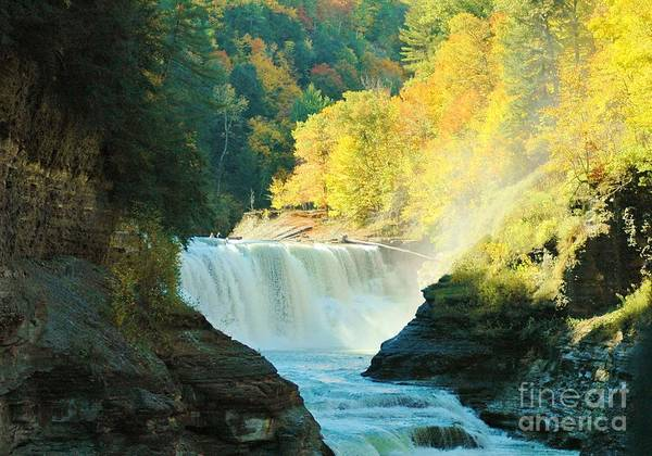 Letchworth Poster featuring the photograph Misty 2 by Kathleen Struckle