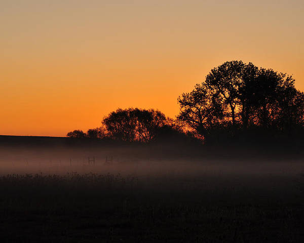 Sunrise Poster featuring the photograph Misty Morning by Andrew Broom