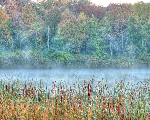 Illinois Poster featuring the photograph Misty Morning by Deborah Smolinske