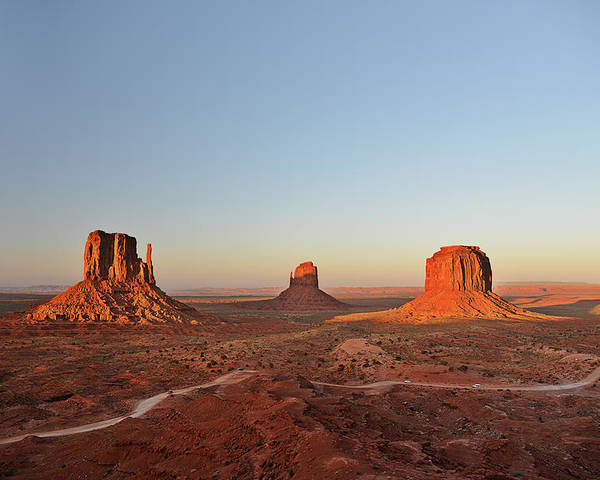 Monument Poster featuring the photograph Mittens And Merrick Butte Monument Valley by Christine Till
