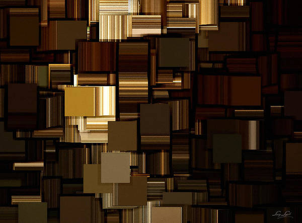 Abstract Poster featuring the digital art Modern Abstract Iv by Lourry Legarde