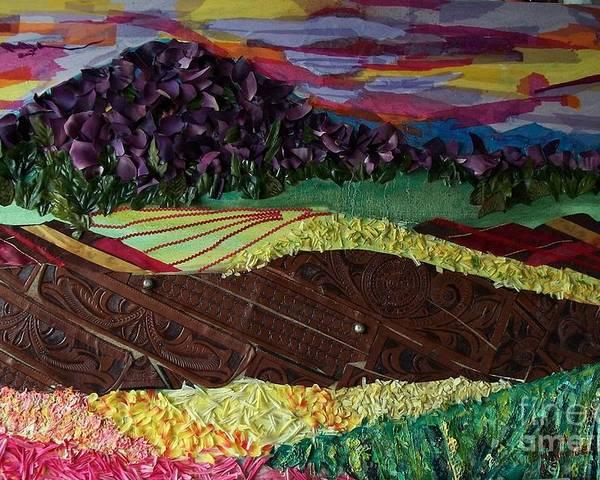 Landscape Poster featuring the mixed media Mole Hill Renaissance by Judith Espinoza