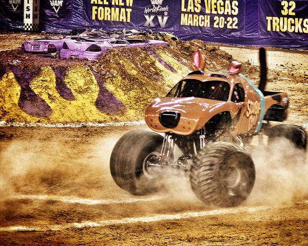 07758fa1b52 Monster Jam Poster featuring the photograph Monster Jam - Scooby Doo by  John Hall