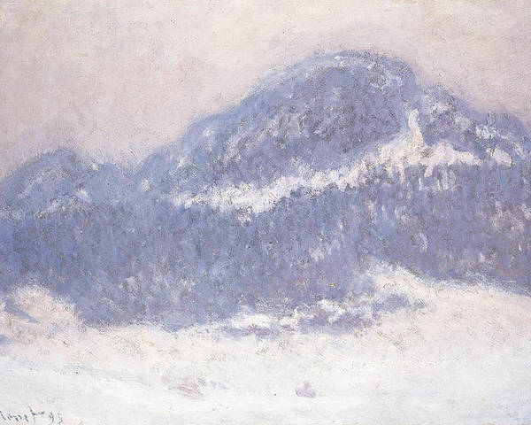 Claude Monet Poster featuring the painting Mont Kolsaas by Claude Monet
