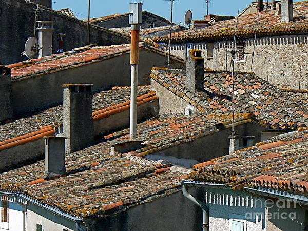 Rooftop Poster featuring the photograph Tile Rooftops Of France by France Art