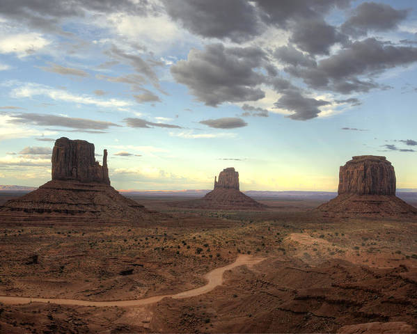 Monument Valley Poster featuring the photograph Monument Valley Sunset by Saija Lehtonen