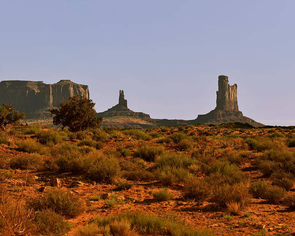 Monument Valley Poster featuring the photograph Monument Valley - Unusual Landscape by Christine Till