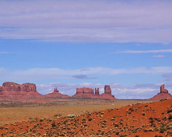 Monument Valley Poster featuring the photograph Monument Valley by Viktor Savchenko