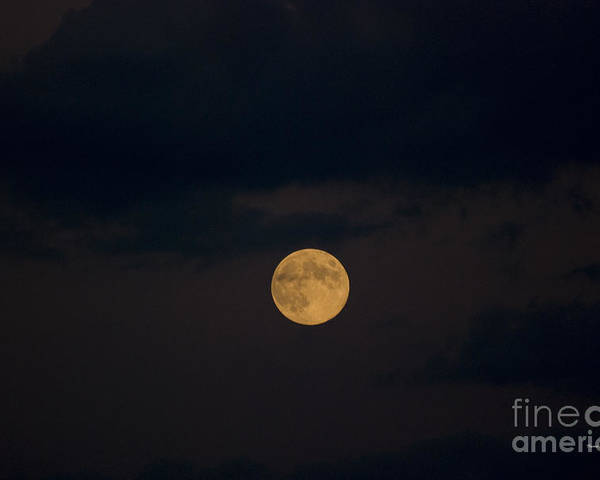 Full Moon Poster featuring the photograph Moon Rising 07 by Thomas Woolworth