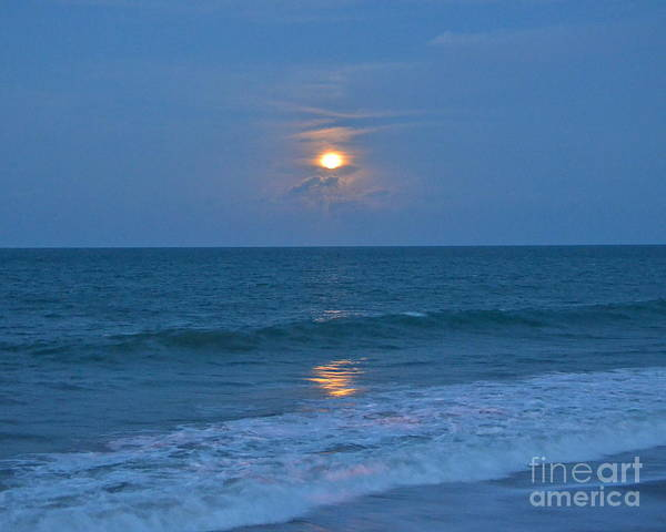 Moon Poster featuring the photograph Moonglow by Carol Bradley