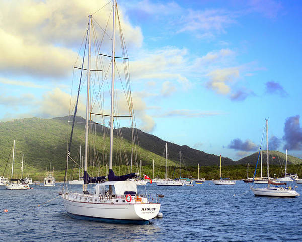 Island Poster featuring the photograph Moored To Relax by Michael Glenn